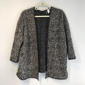 EUC H&M Shaggy Grey Open Front Sweater
